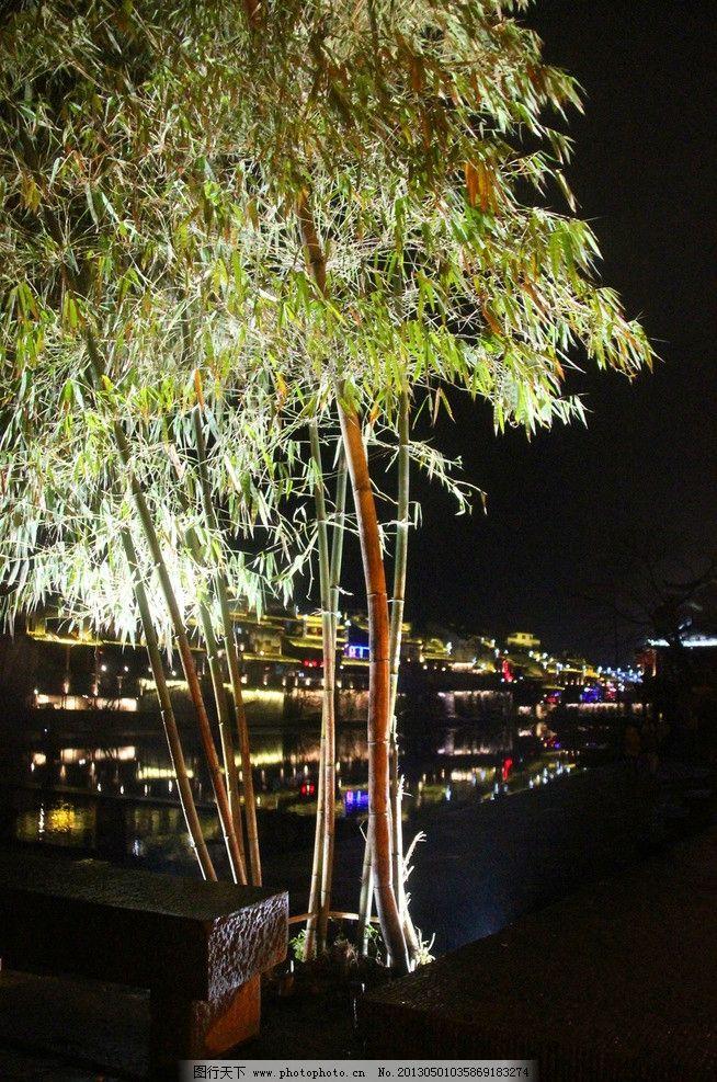 凤凰夜景 凤凰 古城 夜景 灯光 树 树木树叶 生物世界 摄影 96dpi jpg