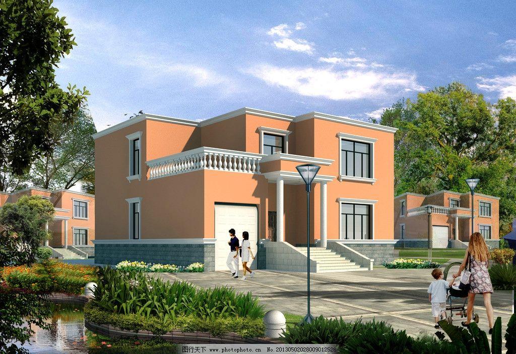 别墅 建筑 别墅效果图 二层别墅 别墅住宅 建筑设计 环境设计 设计 7