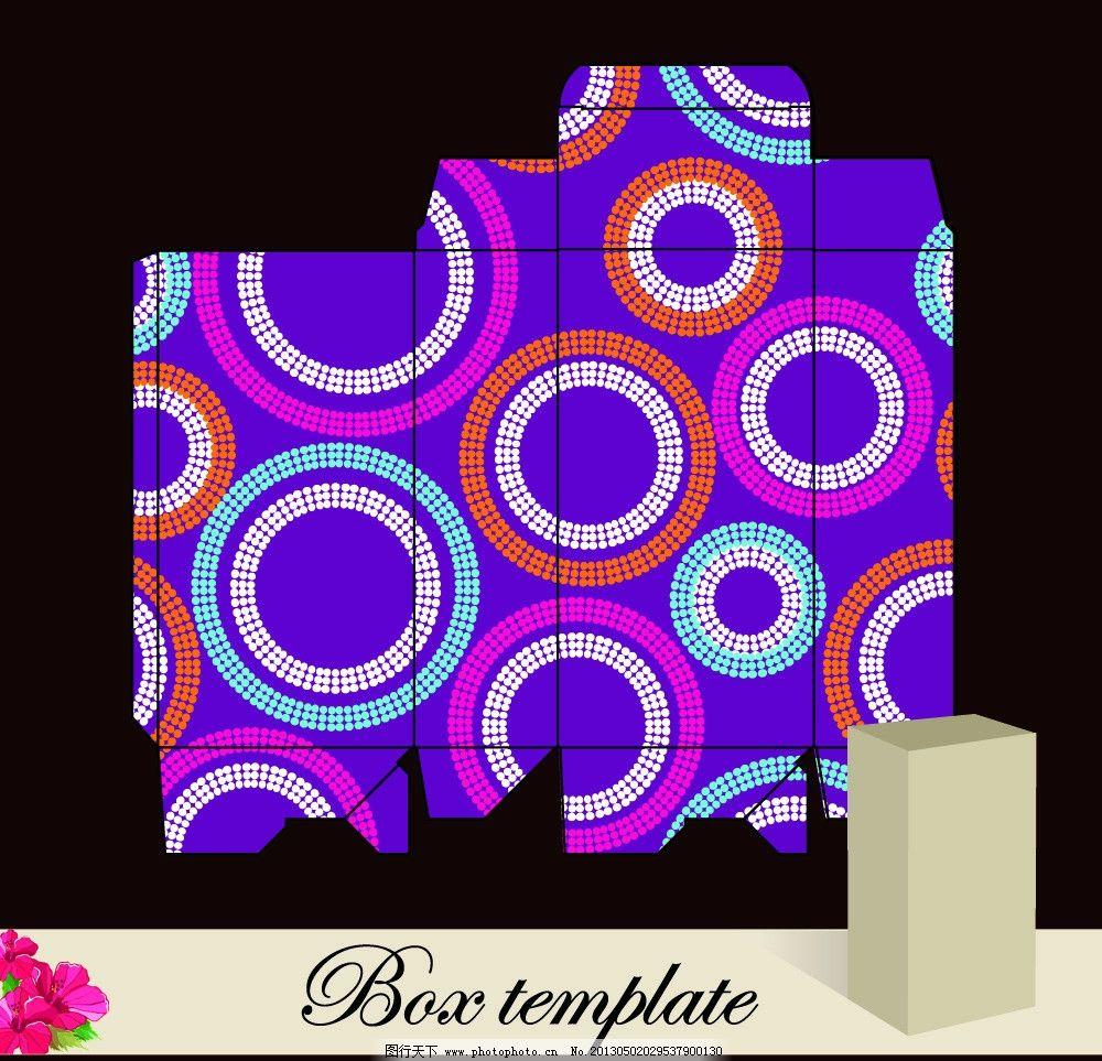 花卉花纹包装盒设计 欧式 古典 盒子 时尚 矢量 包装设计 广告设计