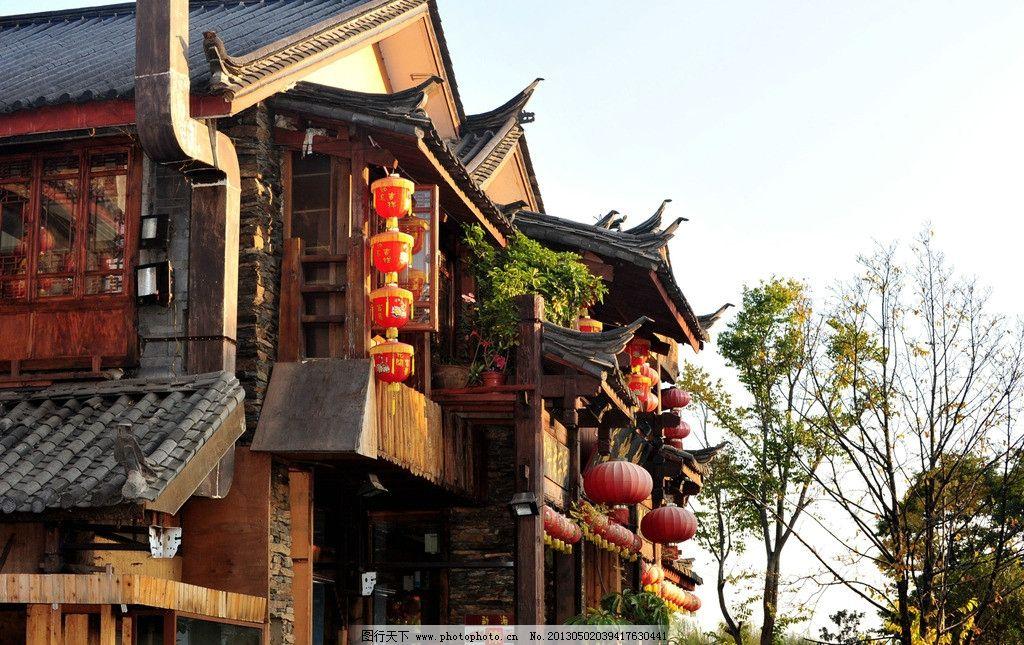 丽江 丽江古城 云南 古街 商店 红灯笼 傣族 纳西建筑 古建筑