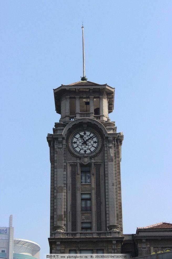 钟楼 欧式建筑 古建筑 石头建筑 时钟 建筑摄影 建筑园林 摄影 72dpi图片