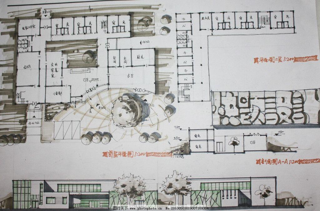 快题设计 快题 手绘 设计 考试 尺规 建筑平面图 绘画书法 文化艺术