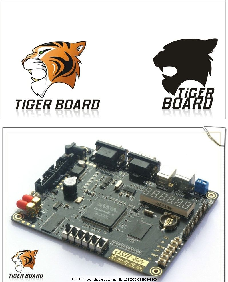 老虎标志 虎头 电路板 企业标志 标识标志图标 矢量