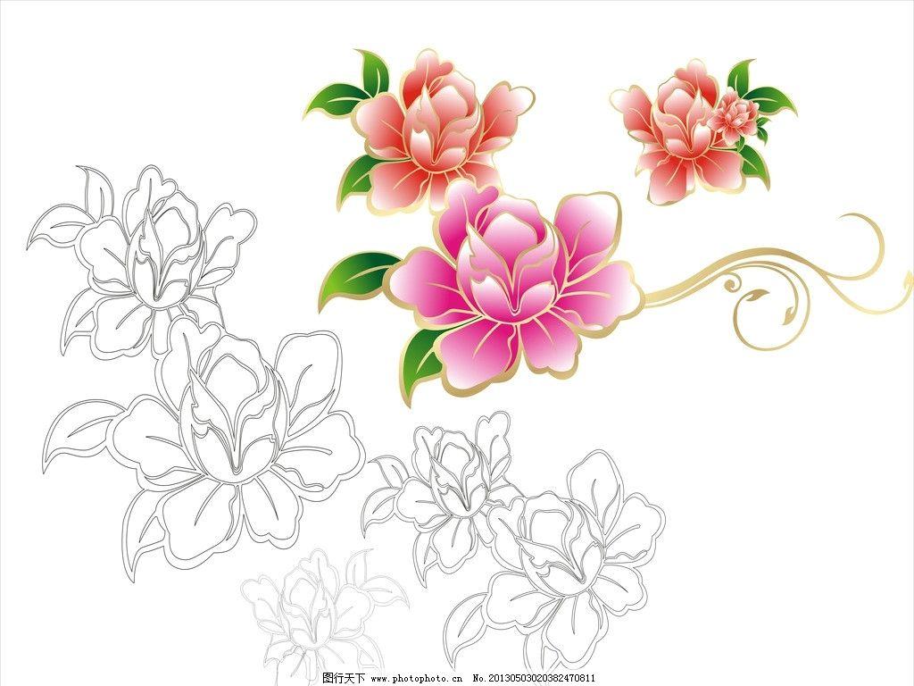 牡丹花底纹 牡丹花 矢量 底纹 暗纹 温馨背景 图案 花纹花边 底纹边框