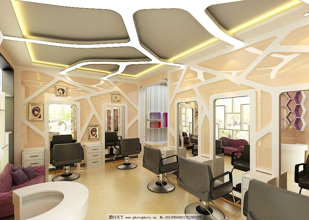 理发店室内欧式风格装修图片
