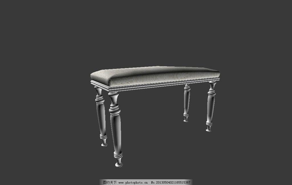 欧式椅子模型