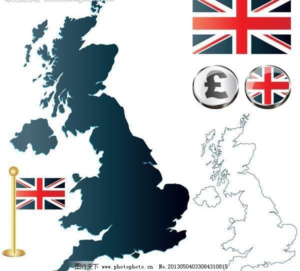 标识标志图标 国徽 国家 国旗 素材 文化 小图标 英国 英国矢量素材 图片