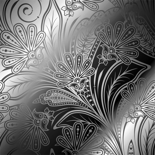 欧式复古花纹矢量素材免费下载