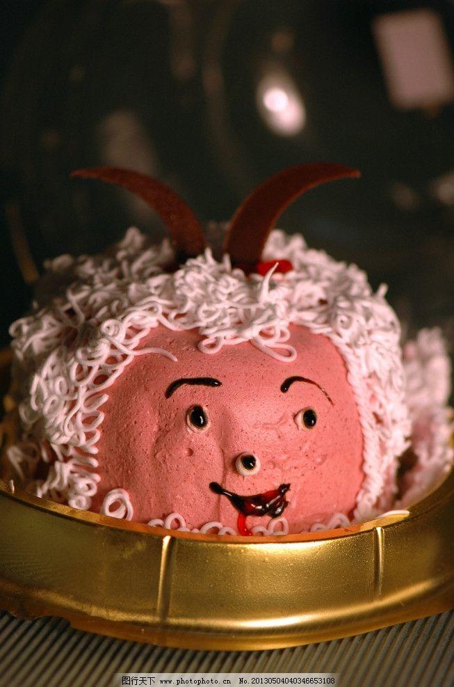 蛋糕 喜洋洋 小羊 红色 巧克力 西点 西餐美食 餐饮美食 摄影 72dpi j