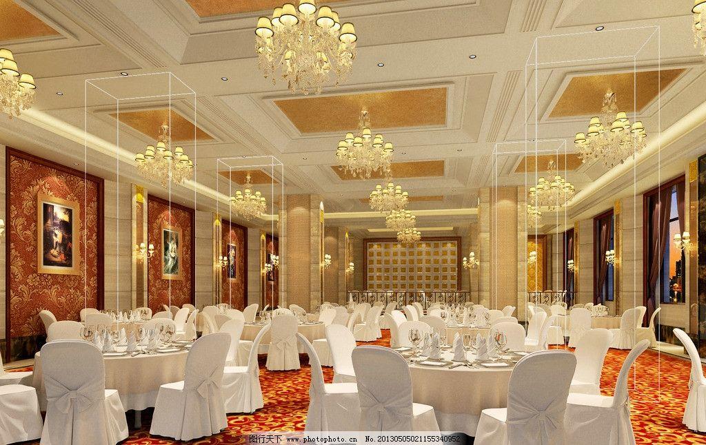 宴会厅 工装 酒店 餐厅 中式 3d作品 3d设计 设计 72dpi jpg