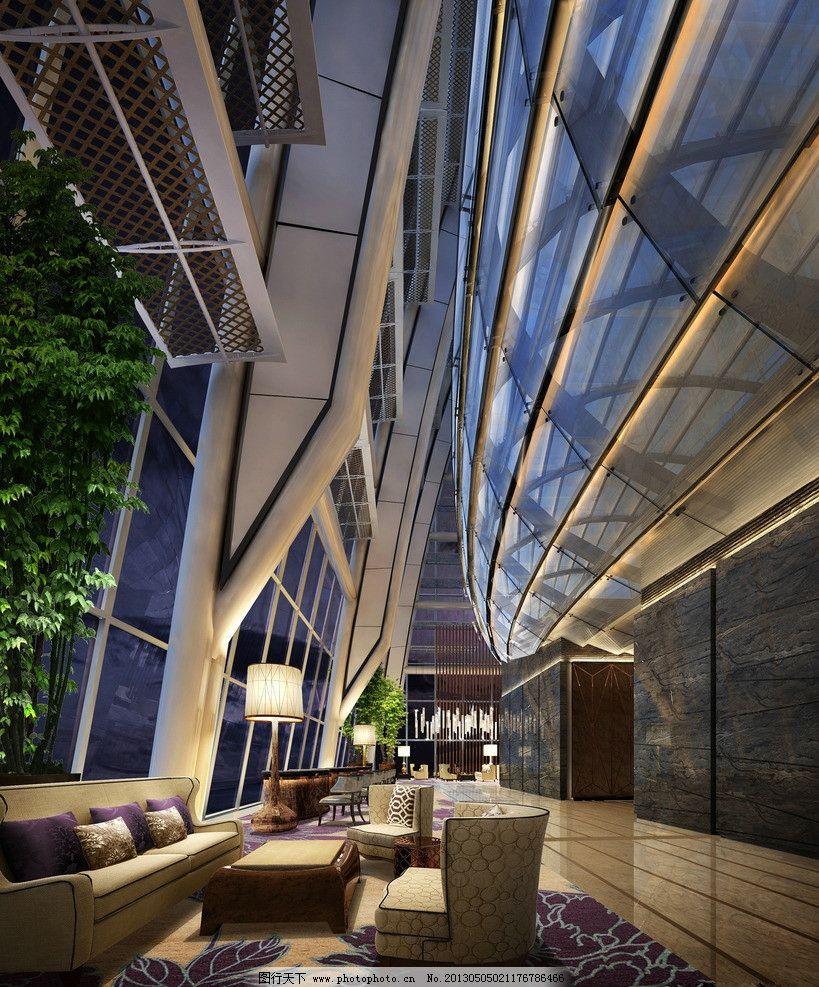 大堂 工装 酒店 中式 现代 地毯 桌椅 3d作品 3d设计 设计 72dpi jpg