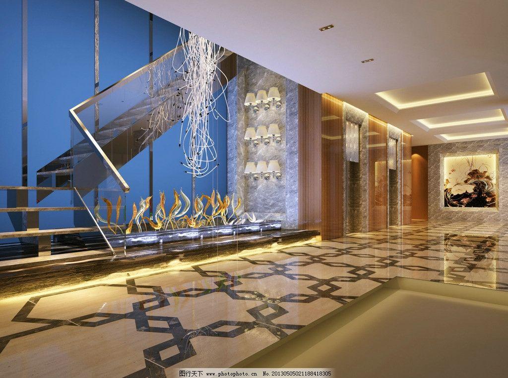 楼梯间 工装 酒店 商场 走廊 欧式 楼梯 3d作品 3d设计 设计 300dpi j