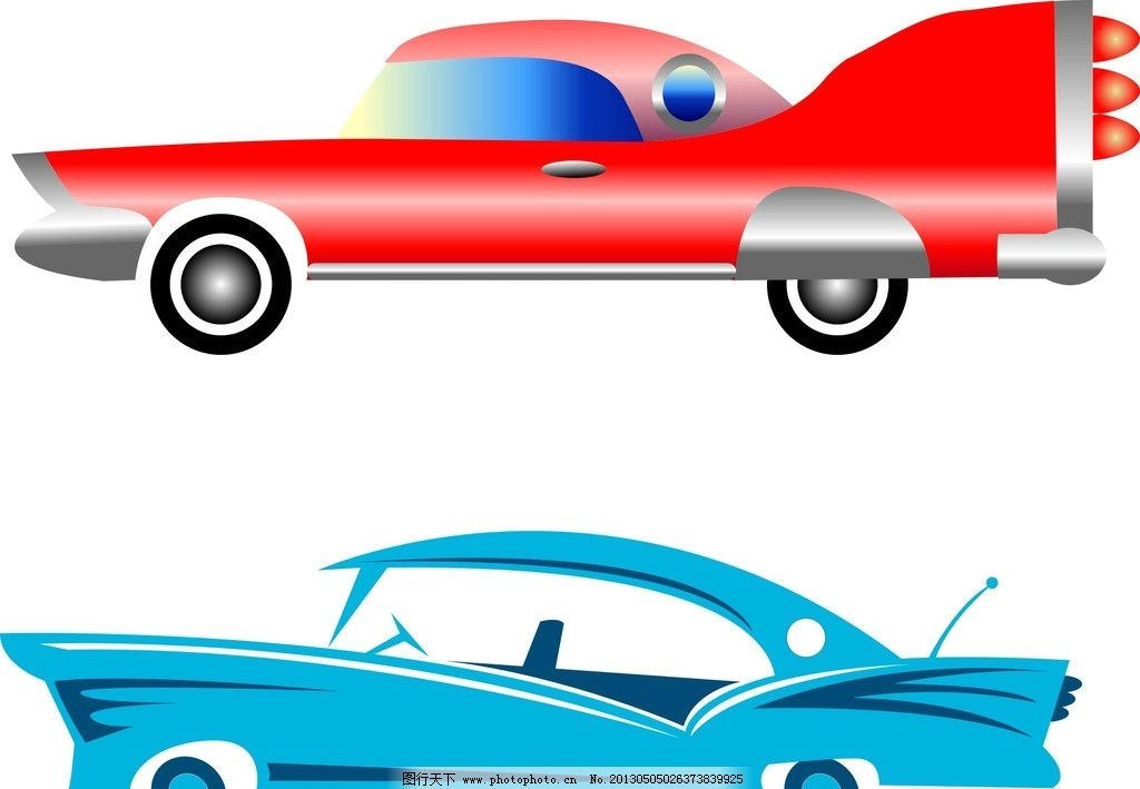 汽车 轿车 车 红色汽车 汽车模板 高档车 矢量素材 cdr 其他 生活百科