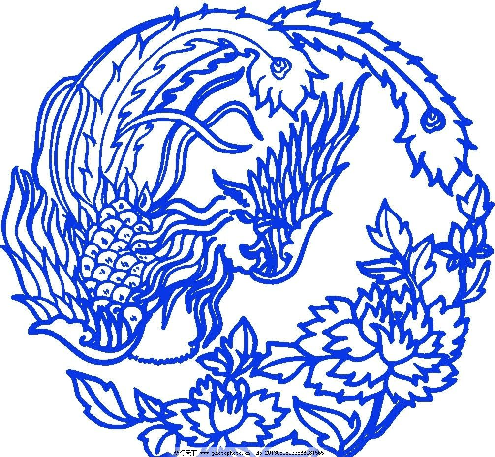 青花 青花瓷花纹 花纹 矢量花纹 古典花纹 瓷器 陶瓷花纹 陶瓷纹样