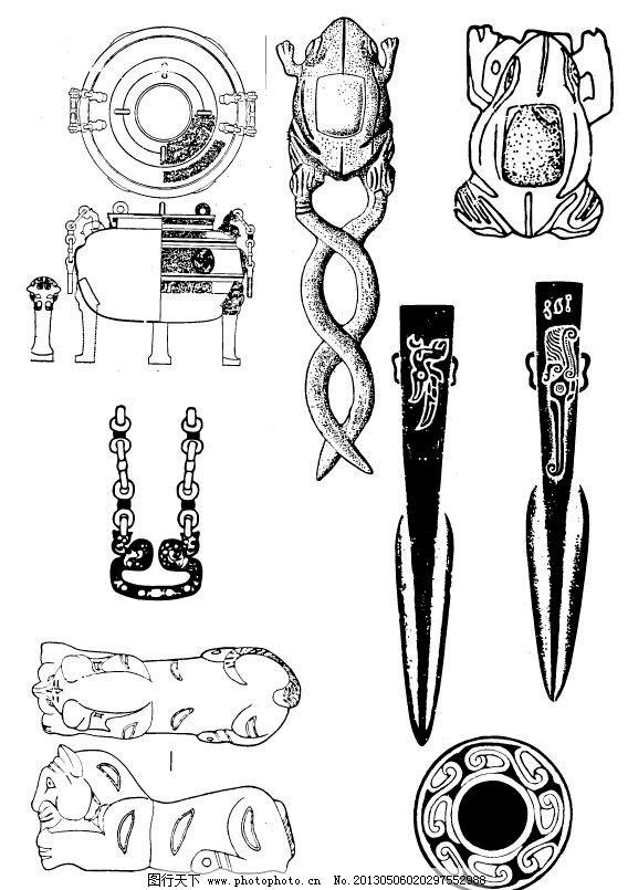 古代图案 古代纹样 吉祥纹样 吉祥图案 矢量古代动物图案 底纹背景 底