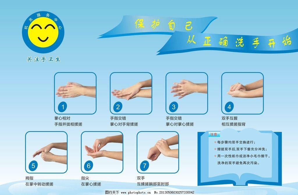 洗手七步骤图片