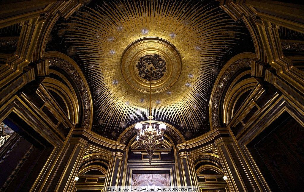 欧式城堡吊顶图片
