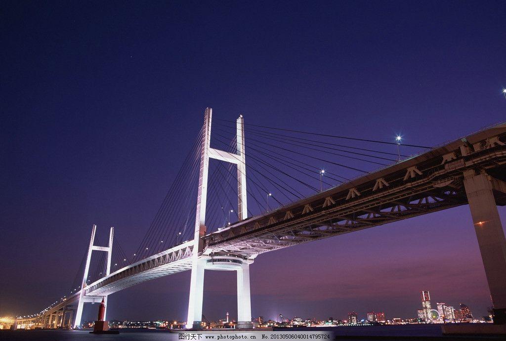 大桥 夜 灯光 夜景 桥