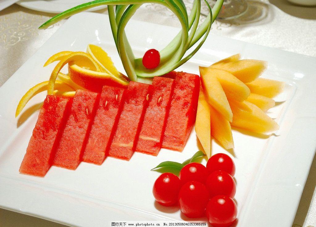 水果拼盘 西瓜 哈密瓜
