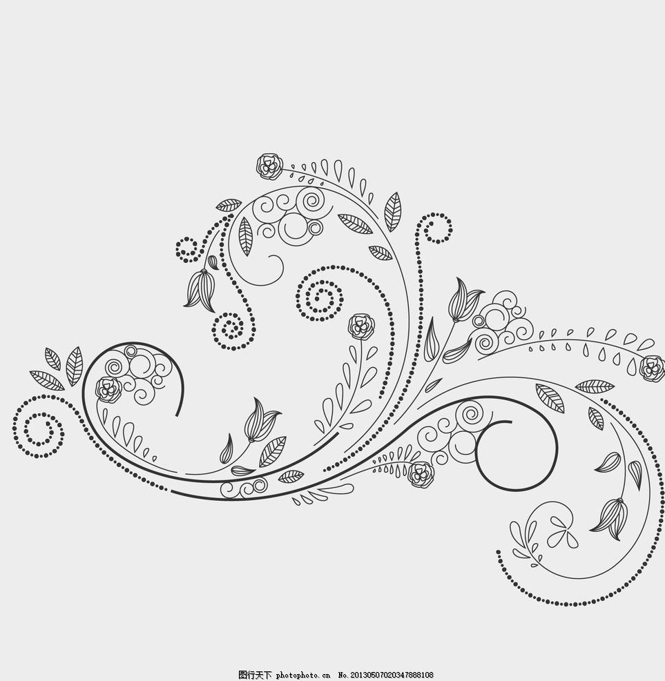 植物花纹 纸条 藤蔓 花朵 花蕾 叶子 底纹 背景 潮流花纹 花纹花边