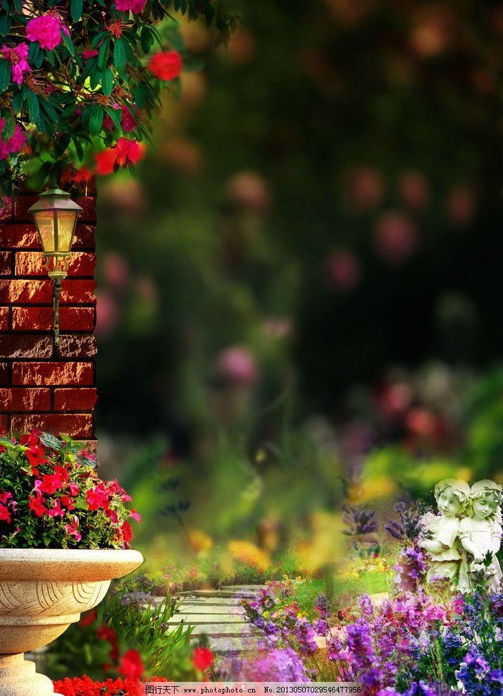 欧式园林 绝佳美景 花园 公园 贵族园林 唯美风景 花儿 地产广告 水景