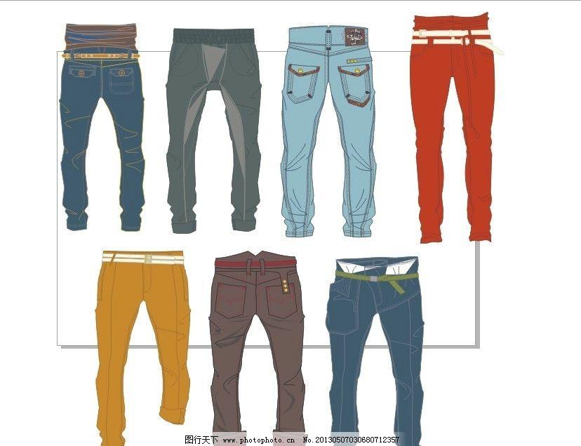 裤子设计 男士裤子 男装设计 服装设计 款式设计 矢量素材 广告设计