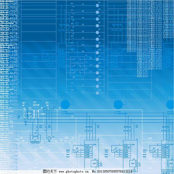 科技电路背景矢量图下载