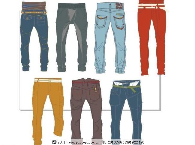 裤子设计模板下载 裤子设计 男士裤子 男装设计 服装设计 款式设计