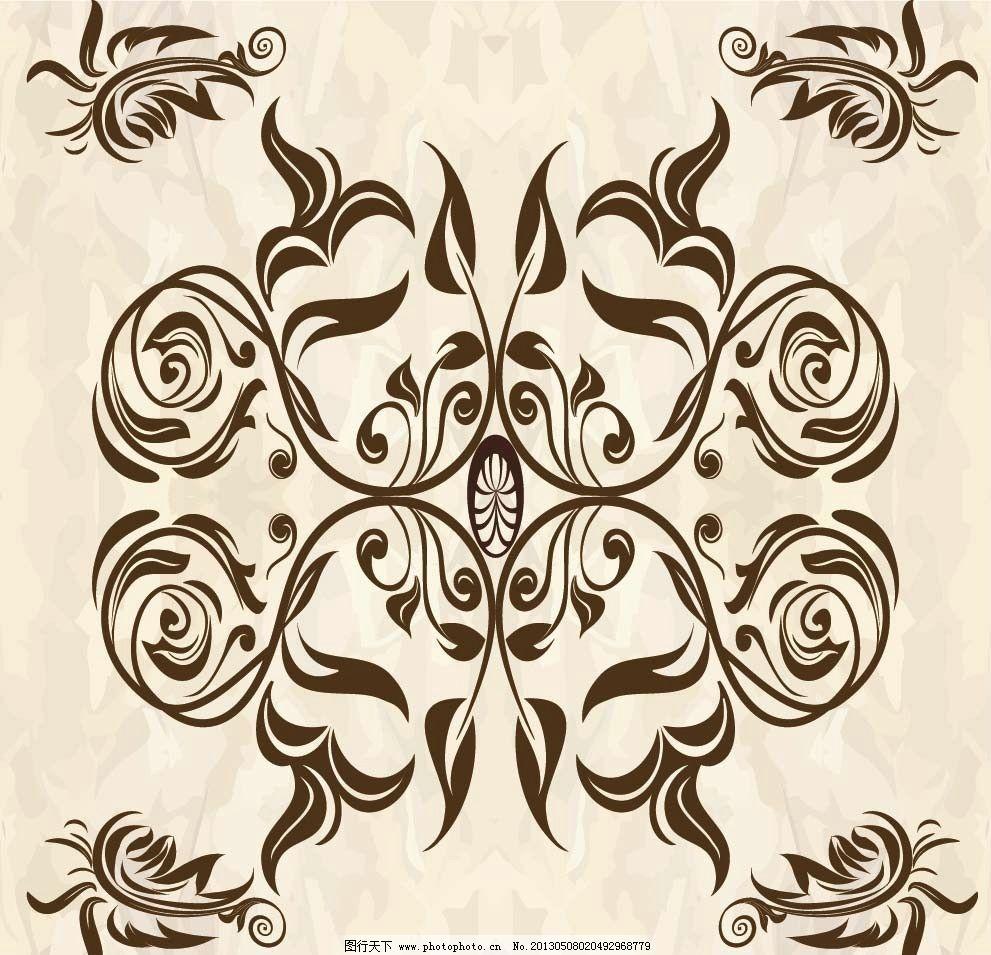 花纹 欧式花纹 图腾 古典花纹 复古花纹 花纹墙纸 装饰边框 欧式花纹