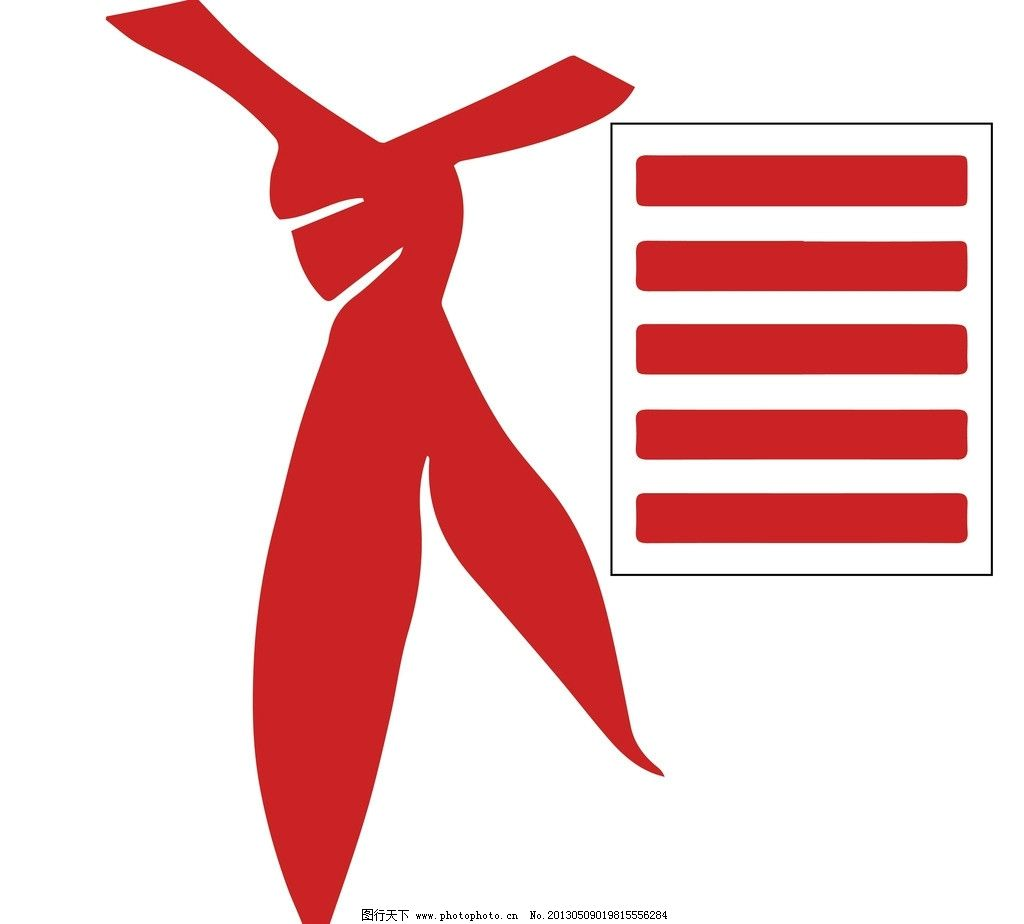 红领巾少先队员五红杠 班长 组长 五杠 肩牌 标识标志图标 矢量