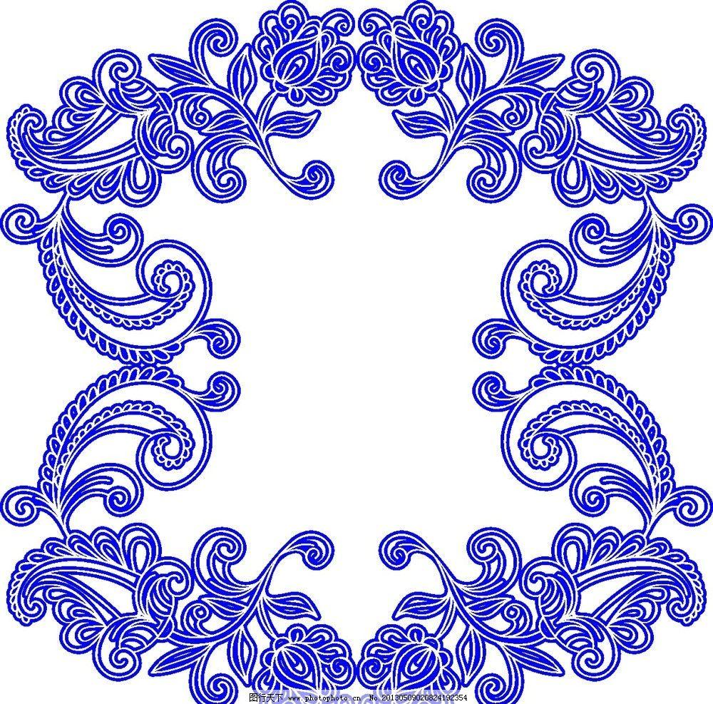 花纹边框 花纹 边框 花纹图案 花纹底纹 青花瓷花纹 矢量花纹 古典