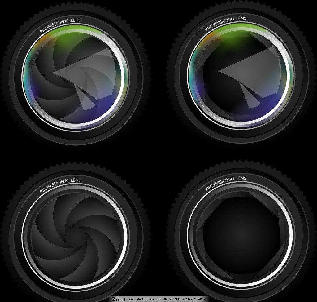 精美镜头矢量素材图片