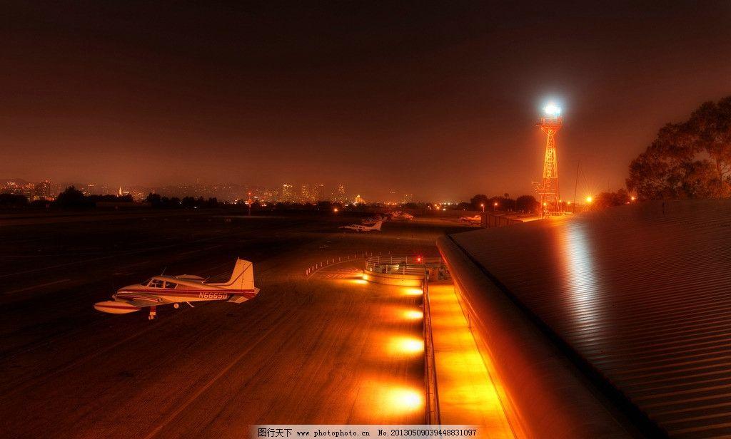 私人飞机场图片