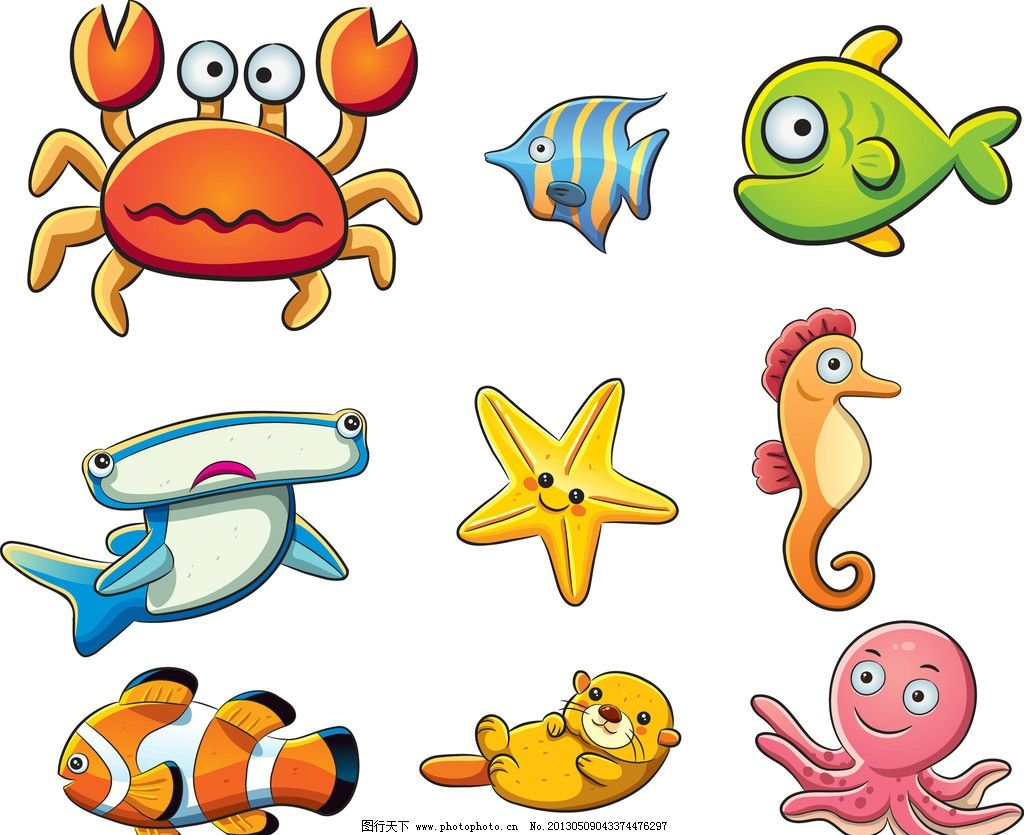海洋动物矢量图图片
