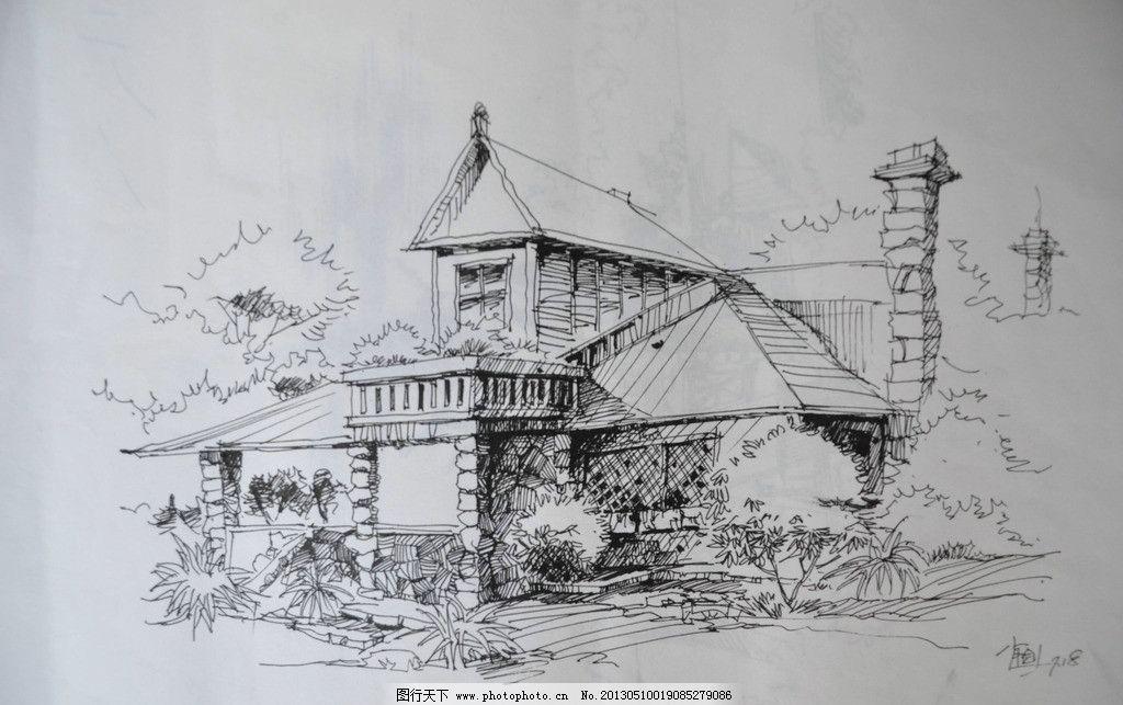 建筑钢笔速写 建筑 钢笔 速写 线稿 手绘 绘画书法 文化艺术 设计 300