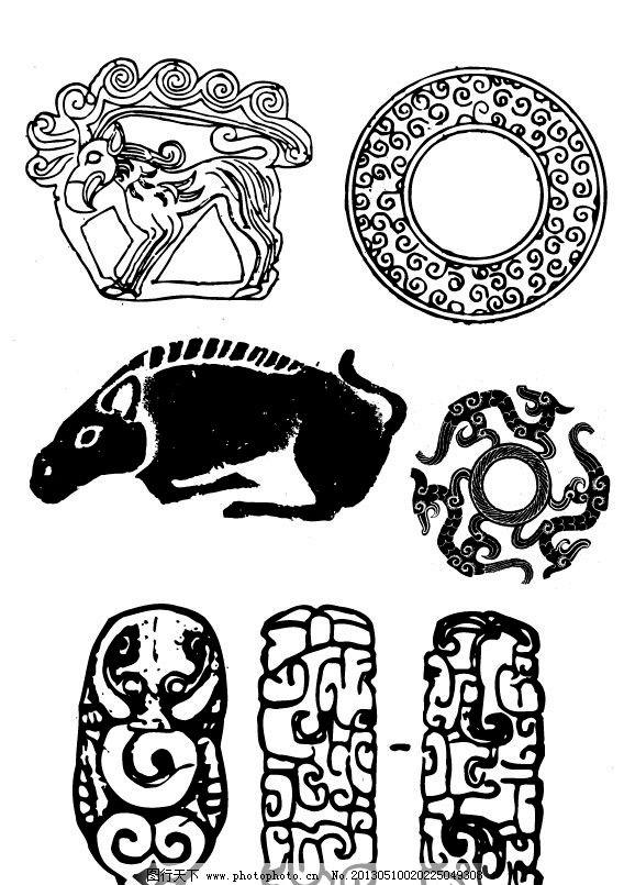 矢量古代玉器图案 矢量动物图案 矢量古代图案 矢量吉祥纹样 矢量古代