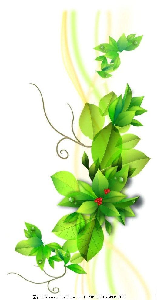 精美矢量花纹 花纹 边框 展板 背景 藤蔓 红色 绿色 叶子 彩带 清新