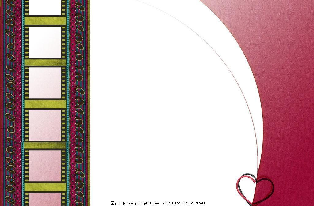 相框图片,层次 电影 红色 胶片 流光 扇形 摄影模板