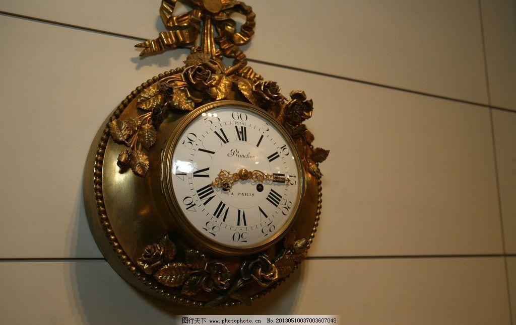 挂钟 钟 欧式钟 复古 雕花 生活素材 生活百科 摄影 72dpi jpg