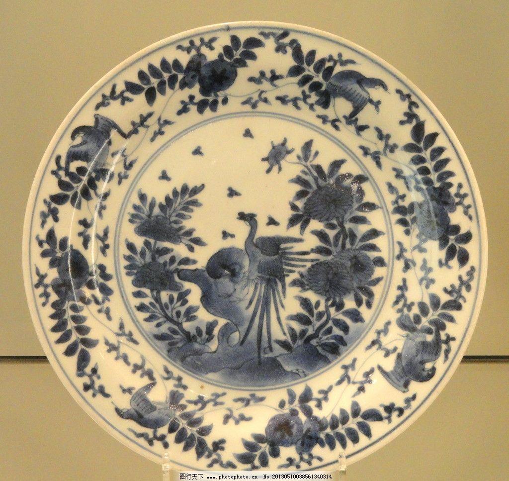 青花瓷盘 青花瓷 瓷器 陶瓷 彩绘 绘画 工艺品 盘子 碗碟 传统文化