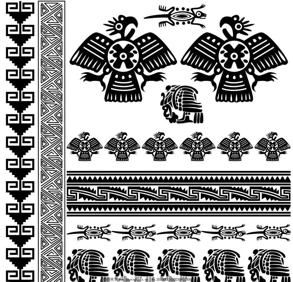 花纹图腾 欧式素材 纹身