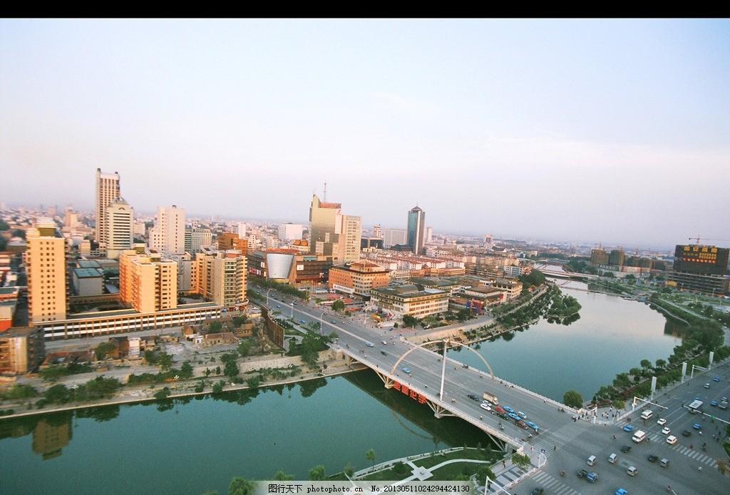 潍坊白浪河 泰华 河边 美景 建筑景观 摄影