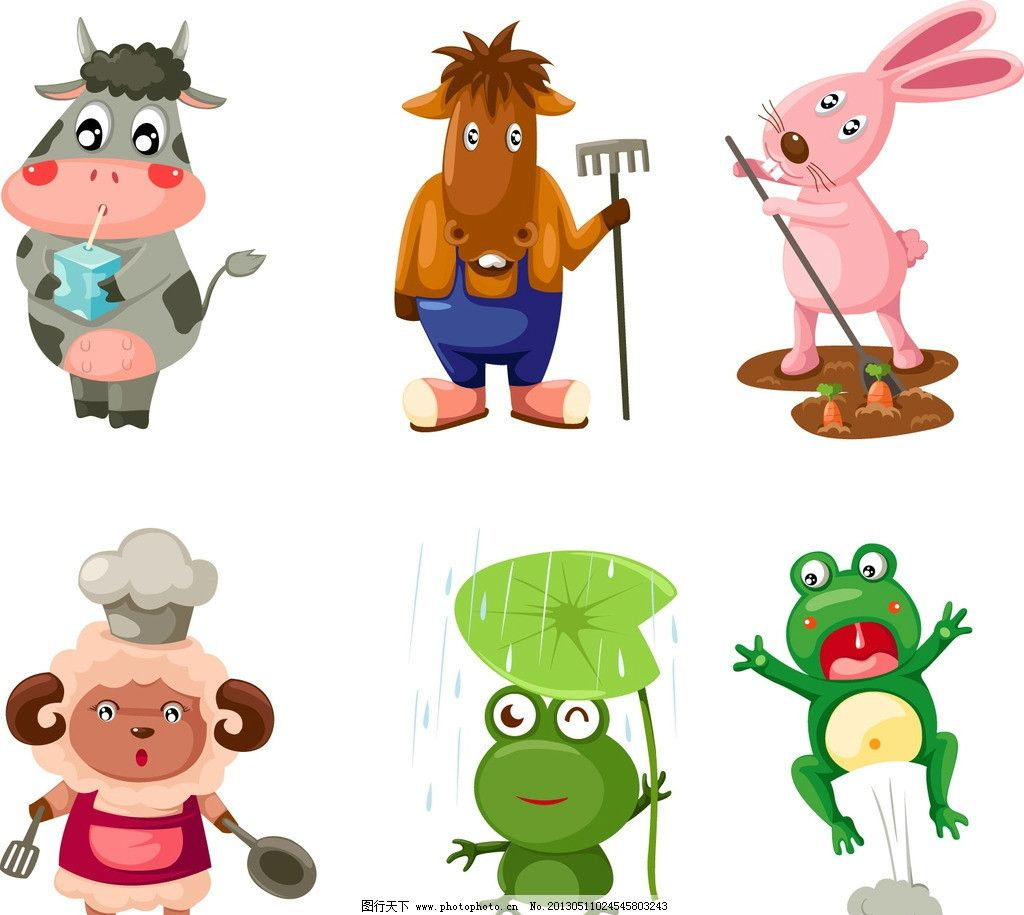 卡通动物模板下载图片