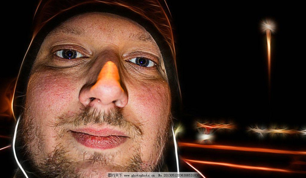脸部 表情 外国人 中年男子 面部放松 神态 人物高清摄影 人物图集图片