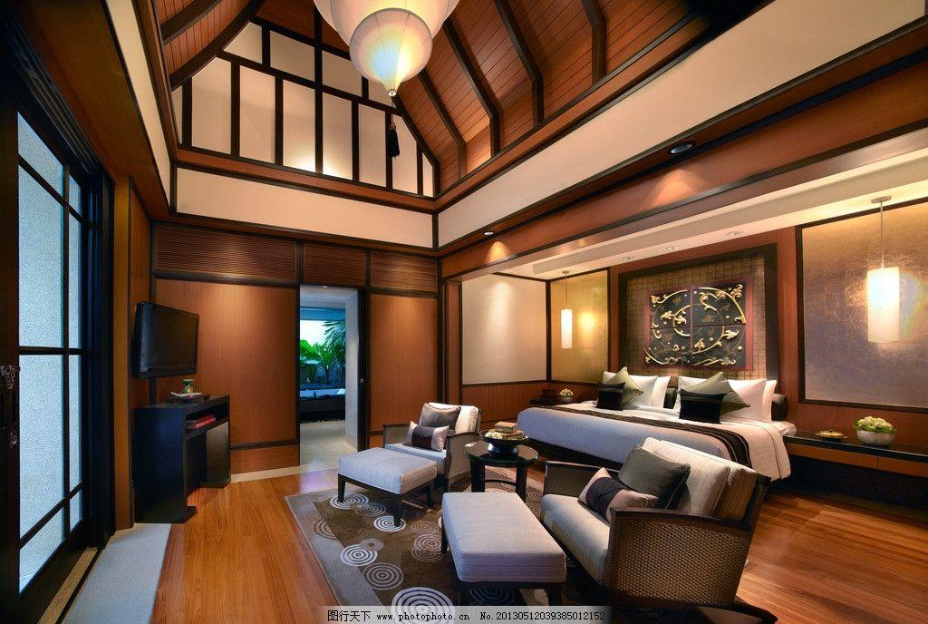 酒店 套房 室内装修设计 房子 房间 装潢 装饰 床 窗帘 城市