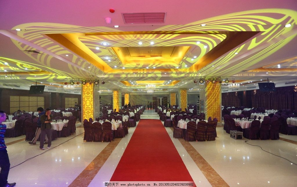 酒店宴会厅 大厅 婚宴 婚礼 传统美食 餐饮美食 摄影