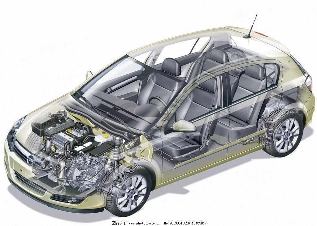 透视图 汽车 opel 金属喷漆 镀铬格栅 双氙汽车大灯 防爆防滑耐磨轮胎