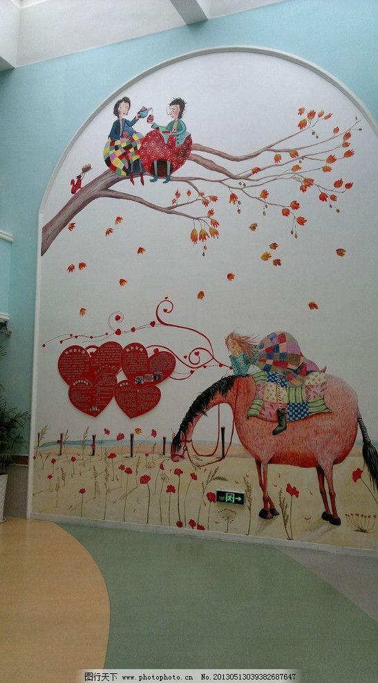 幼儿园手绘装饰墙图片
