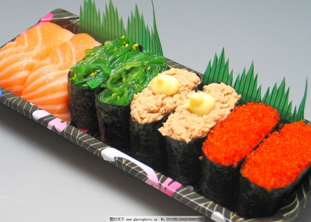 可爱寿司平铺壁纸
