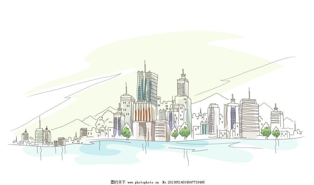 风景手绘图片